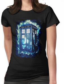 Dr Who Tardis - British Police Box Lost In Space Womens Fitted T-Shirt