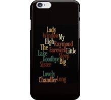 RAYMOND CHANDLER - PHILIP MARLOWE iPhone Case/Skin