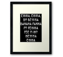 AHS - Asylum name game lyrics [EMMA] Framed Print