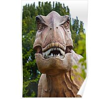 Tyrannosaurus rex with a grin Poster