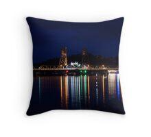 Clyde River Bridge Throw Pillow