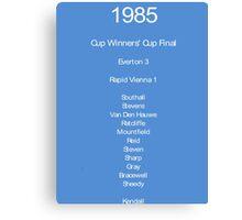 Everton 1985 Canvas Print