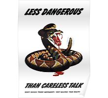Less Dangerous Than Careless Talk - WW2 Poster