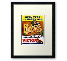 Keep Em Pulling For Victory - WW2 Propaganda Framed Print