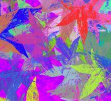 Purple Maple Leaf Fantasy Sticker