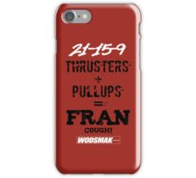 Fran Cough! Red iPhone Case/Skin