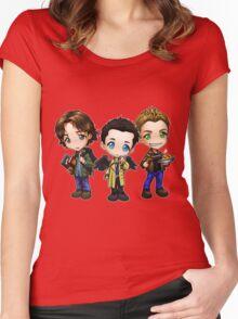 Supernatural cartoon trio Women's Fitted Scoop T-Shirt