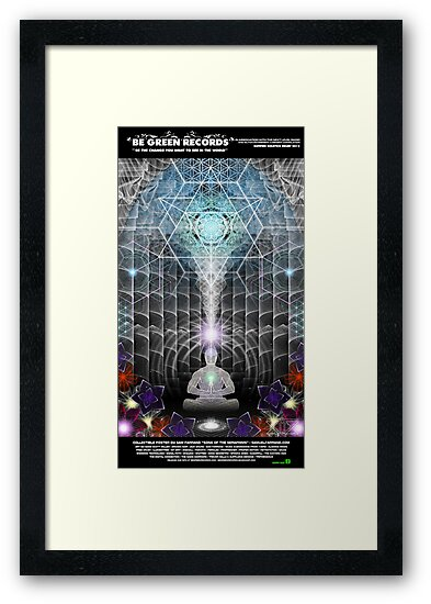 """BGRN-003 Benefit Poster with Sam Farrand - """"Song of the Seraphims""""  by David Avatara"""