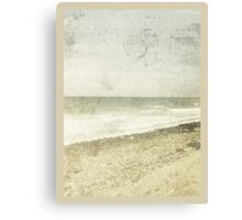 whitewashed beach Canvas Print