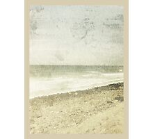 whitewashed beach Photographic Print