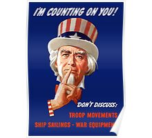 Uncle Sam I'm Counting on You Poster