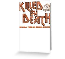 Motorhead Killed By Death Heavy Metal Greeting Card