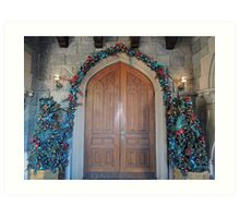 Christmas at the Castle (doors) Art Print