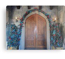 Christmas at the Castle (doors) Metal Print