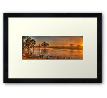 Watercolours - Junee, NSW Australia - The HDR Experience Framed Print