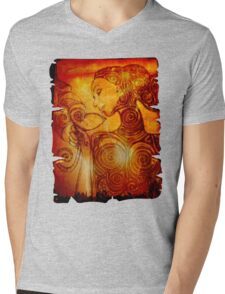 Alma with Anima Mens V-Neck T-Shirt