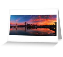 Sunrise at Blackwattle Bay - Panorama Greeting Card