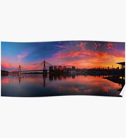 Sunrise at Blackwattle Bay - Panorama Poster