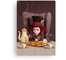 The Hatter - Tea Time Canvas Print