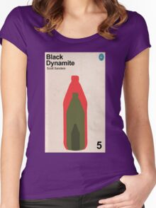 Black Dynamite Retro Book Cover Women's Fitted Scoop T-Shirt