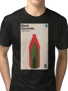 Black Dynamite Retro Book Cover Tri-blend T-Shirt