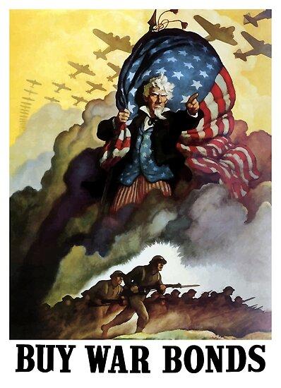 Uncle Sam - Buy War Bonds  by warishellstore