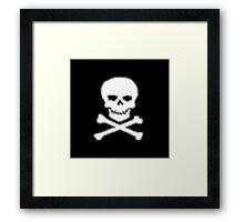 Pixel Jolly Roger Framed Print
