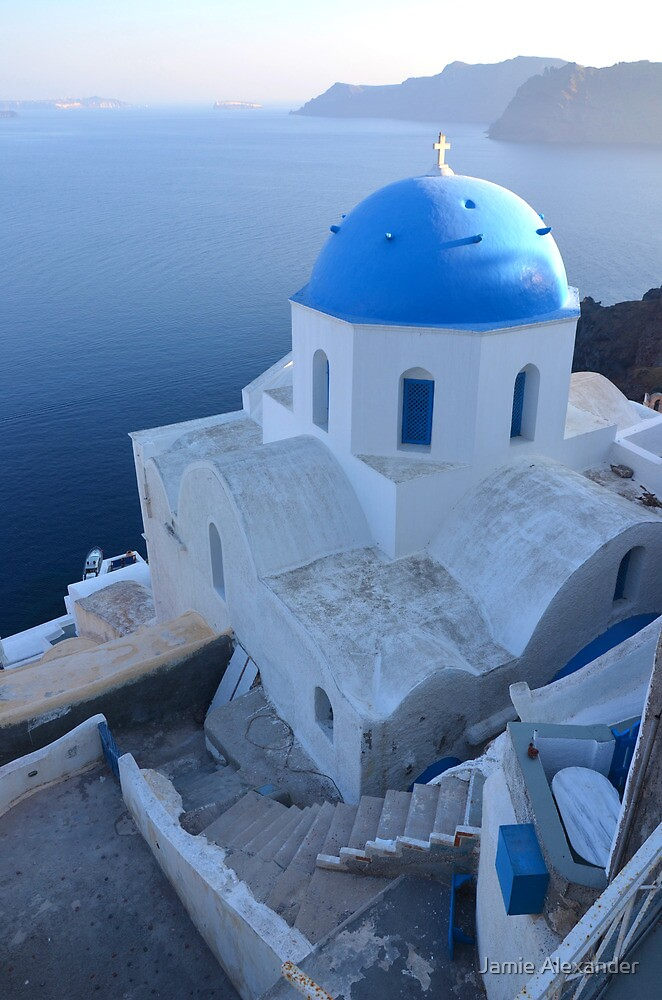 View over Oia by Jamie Alexander