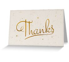 Gold Foil Thanks Greeting Card