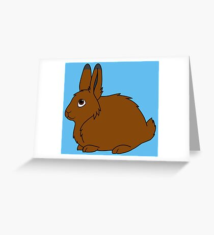 Brown Arctic Hare Greeting Card