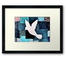 Patchwork Dove Framed Print
