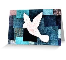 Patchwork Dove Greeting Card