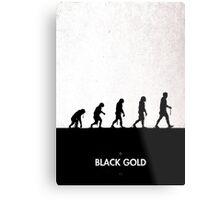 99 Steps of Progress - Black Gold Metal Print