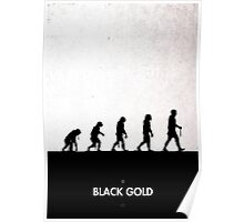 99 Steps of Progress - Black Gold Poster