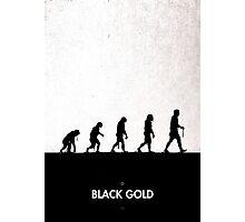 99 Steps of Progress - Black Gold Photographic Print
