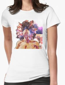 Girl On Fire Womens Fitted T-Shirt