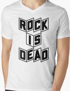 Rock Is Dead Mens V-Neck T-Shirt