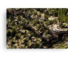 Canyon Dwelling Below Canvas Print