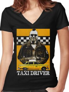 Taxi Driver Travis Bickle New York Design Women's Fitted V-Neck T-Shirt