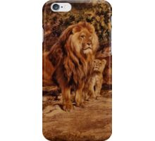iPHONE Case-Lion and Cub iPhone Case/Skin