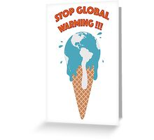 Melting earth Greeting Card
