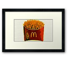 McDonald's Super Size French Fries  Framed Print