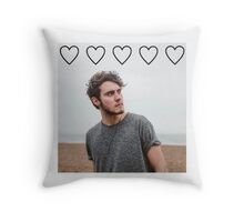 Alfie Deyes hearts Throw Pillow