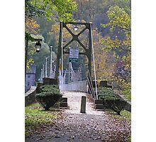 Bridge to Lumberville, Pa Photographic Print
