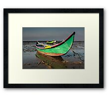 Traditional boat Portuguese Framed Print