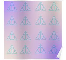 Deathly Hallows Sign Poster