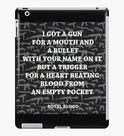 Royal Blood out of the black iPad Case/Skin