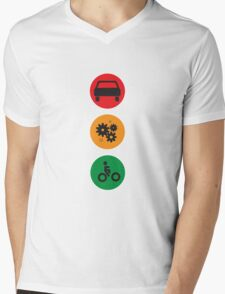 Be Inspired Kick Emissions Mens V-Neck T-Shirt