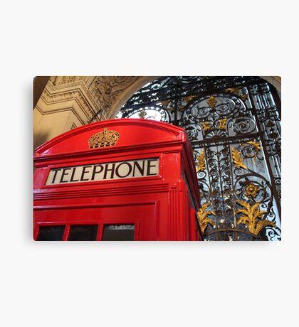 London Telephone Box Canvas Print