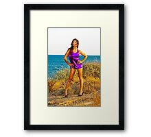 Sexy Young Woman, art photo print Framed Print